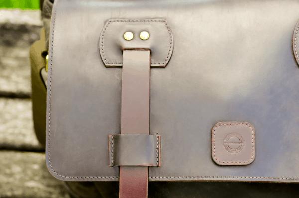 Leather Despatch Messenger Bag Olive